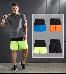 This men's gym shorts with pockets for loose-fitting , hybrid design and ventilation, your secret weapon for outdoor activities & indoor fitness workout.