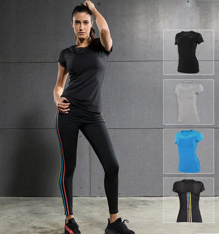 This affordable workout training tops for women can do you a favor to get rid of terrible odor and muscle aches after exercise through its compression fabrics.