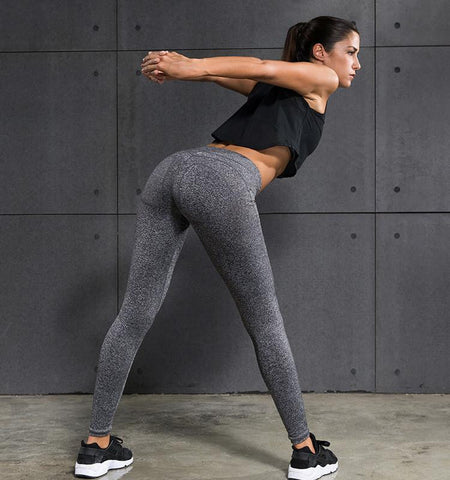 Pure Color Gym Leggings - Compression Pants for Women