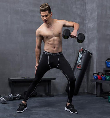 Compression Tights - Pure Color Sport Leggings Men's