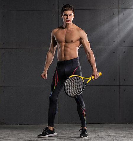 Compression Rainbow Wings Patterned Sport Leggings for Men