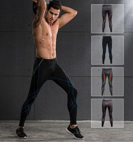 This compression patterned sport leggings for men with clean cut, and medium impact which provide all the support you need to stay cool, calm and comfortable.