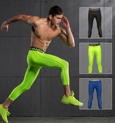 This men's gym fitness leggings with clean cut, lightweight and heat dissipation function provide support your need to stay cool, calm and comfortable.