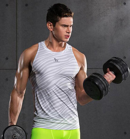 Ripple Printed Men's Workout Tank Tops for Gym Workout