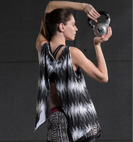 This funny ripple pattern cheap workout tank has perfect function of quick-dry, the chic design can display your attribute fully.