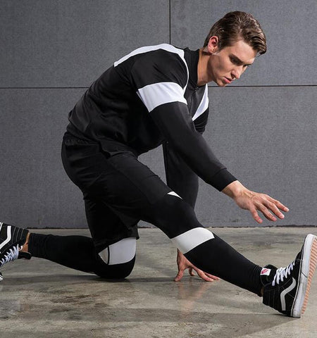 S Spliced Pattern Men's Sport Leggings Sale