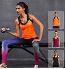 This shell shaped gym sleeveless t shirts with vivid color design provide you with perspiration technology, make your body faraway sticky feeling.