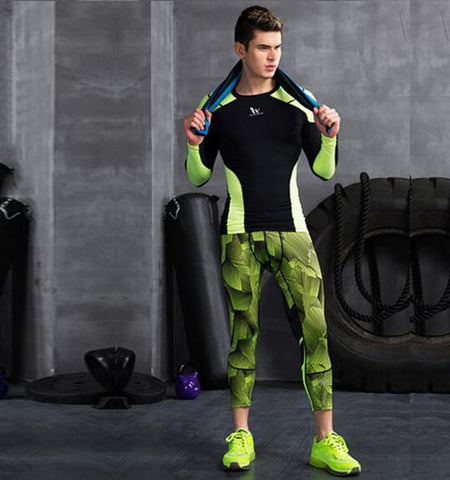 Spacetime 3/4 Men's Sport Leggings for Fitness