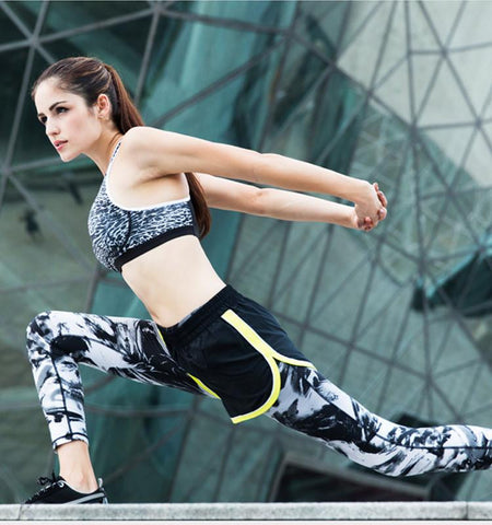 Compression Spindrift Printed Yoga Leggings for Women