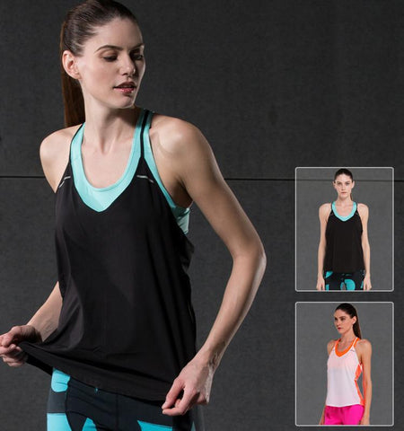 This stair shaped sleeveless open back workout tanks made from breathable and quick drying VME-FIT fabrics quickly transfer the skin heat and bring body fresh. Sales channels Manage  Visible on 1 of 1 Online Store Organization Product type Vendor Collections      Women's Tops     Cycling     Running     Sport     Women's     Women's Sleeveless     Yoga  Tags View all tags      Women     Summer