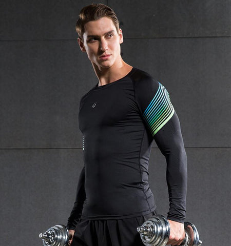Stream Lines Men Compression Long Sleeve Tops