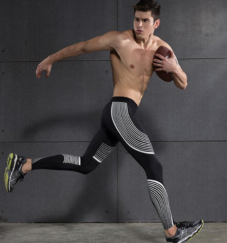Gym Clothing - Stream Lines Compression Leggings for Men