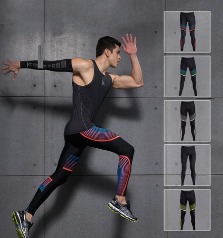 This gym clothing compression leggings for men, perfect muscle focus, push your lower body harder for longer without the next-day muscle ache.