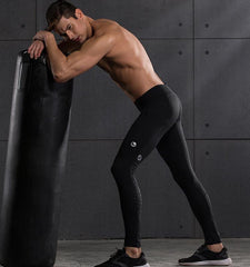 Snakeskin Pattern Men's Compression Pants for Gym Workout