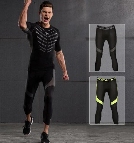This 3/4 men's cheap sport leggings with triangle pattern design, ventilation and quick-dry function which provide you with unprecedented feelings.