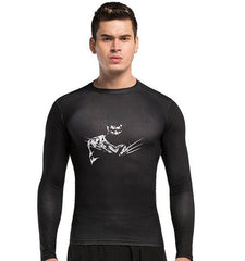 Wolverine Pattern Men Compression Long Sleeve Funny Workout Shirts