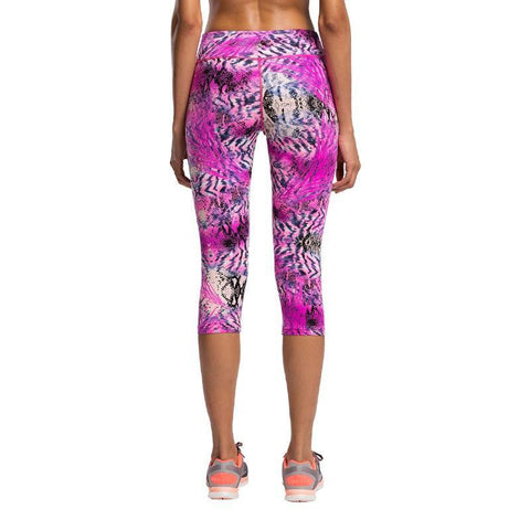 Abstract Floral Pattern 3/4 Pants