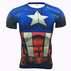 Captain America Compression T Shirt