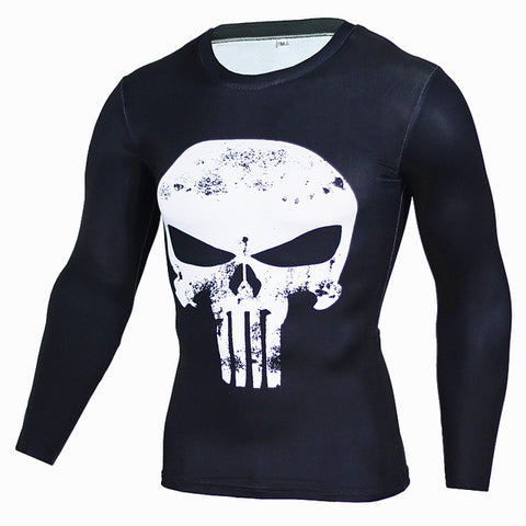 The Punisher Workout Shirt Long Sleeves