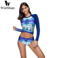 Long Sleeve Van Gogh Swimsuit