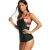 Image of Stripes Tankini Set