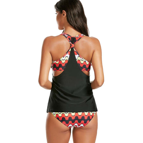 Stripes Tankini Set