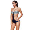 Image of Lace Up Bandeau Bikini