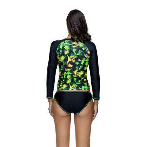 Long Sleeve Space Swimsuit