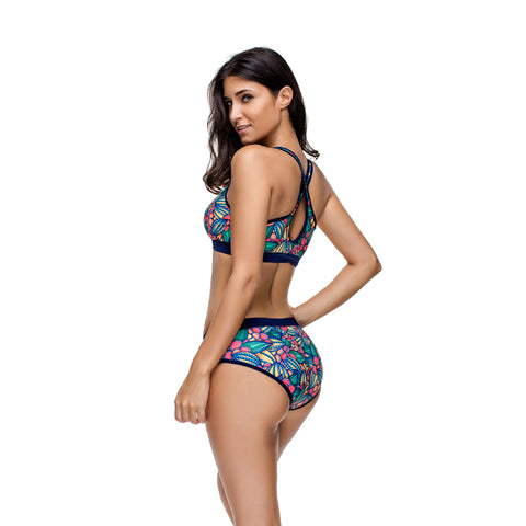 Flower Three Pieces Swimsuit
