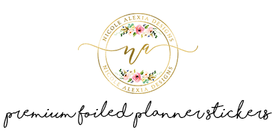 Premium foiled planner stickers
