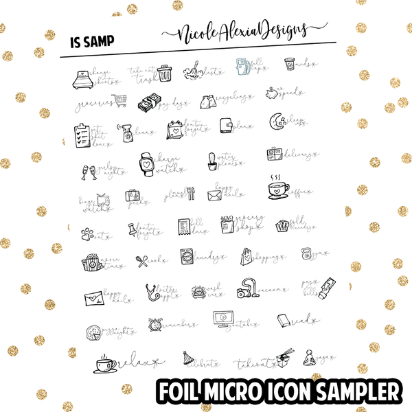 Foil Micro Doodle Icon Sampler