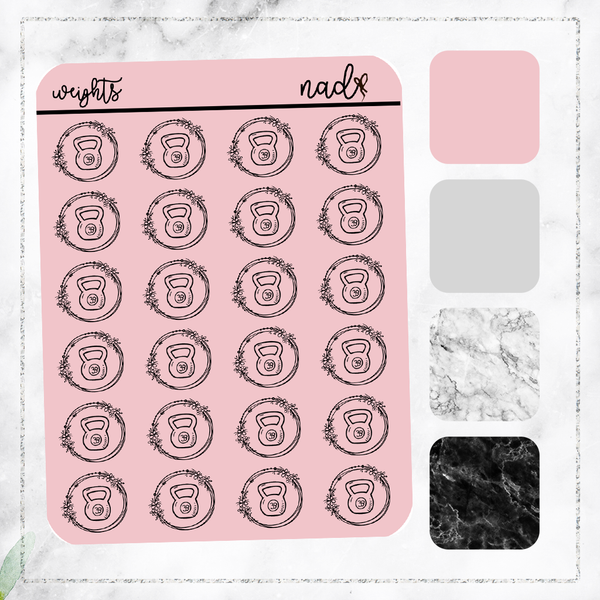 Foil Dainty Icons - Weights