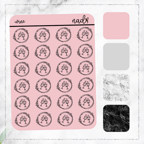 Foil Dainty Icons - Wine