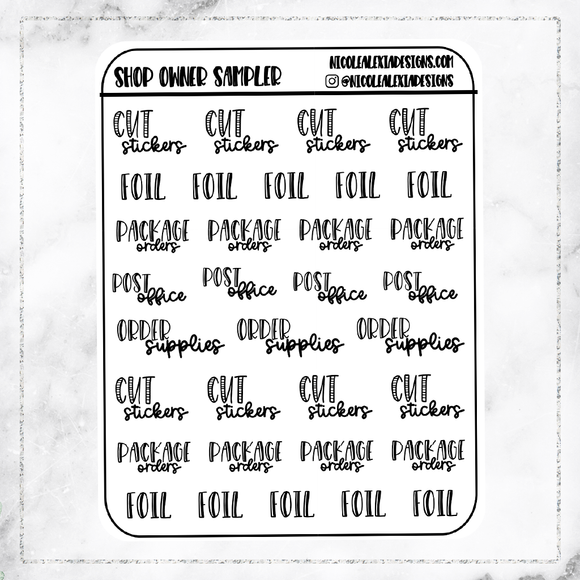 Foil Shop Owner Script Sampler