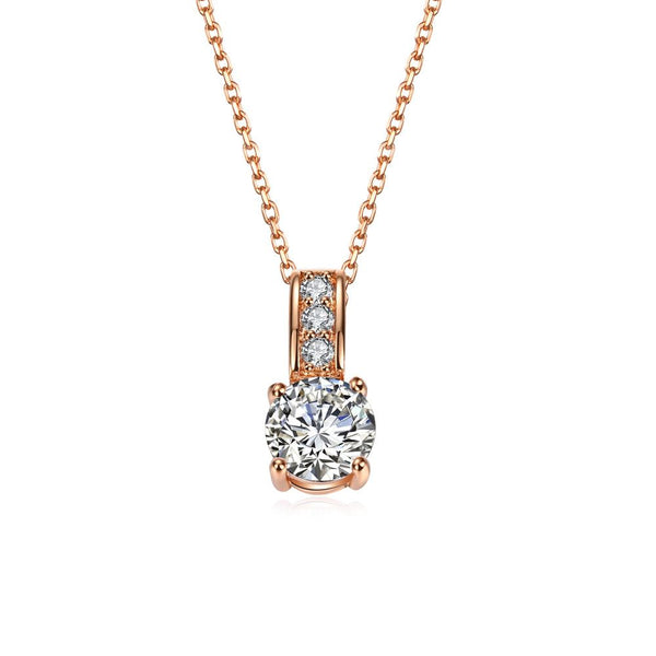 Eagle Eye Diamond Long Necklace in Rose Gold