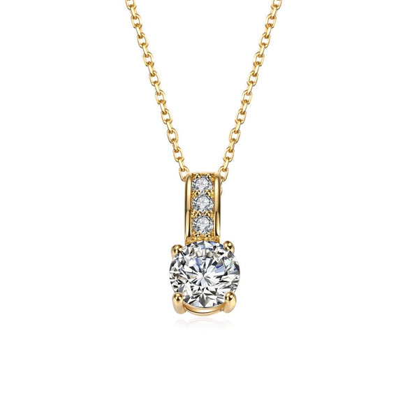 Eagle Eye Diamond Long Necklace in Gold