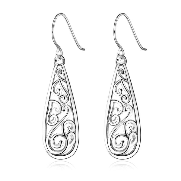 Sequence Teardrop Earrings in Silver