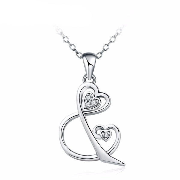 Love And You Necklace in Silver