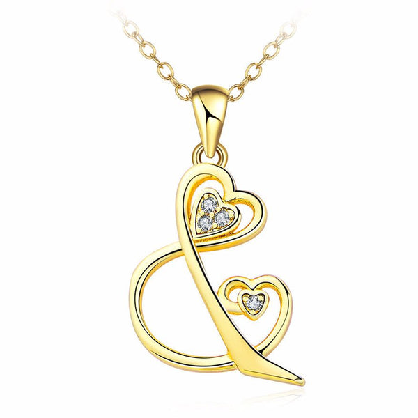 Love And You Diamond Long Necklace in Gold