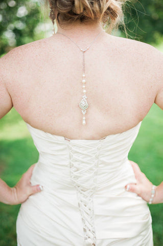 Bridal backdrop necklace EMMA