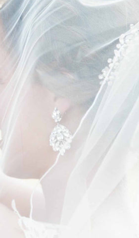 swarovski crystal bridal chandelier earrings