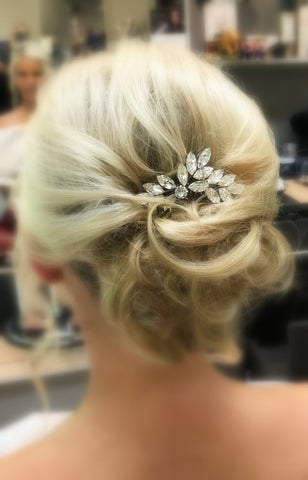 swarovski crystal bridal hair comb