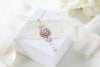 Rose gold Cubic Zirconia Bridal pendant necklace - EMMA - Treasures by Agnes
