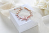 Rose gold Cubic Zirconia and Freshwater pearl Bridal bracelet - AMARI - Treasures by Agnes
