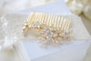 Rose gold cubic zirconia Bridal hair comb - LILY - Treasures by Agnes