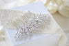 Rose gold cubic zirconia Bridal hair comb - ALICIA - Treasures by Agnes