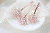 Cubic Zirconia Rose gold hair pins - Treasures by Agnes