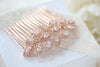 Rose gold CZ bridal hair comb - SCARLETT - Treasures by Agnes