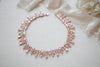 Rose gold crystal drop statement necklace - ADDISON - Treasures by Agnes