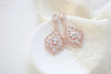 Simple Rose gold Bridal chandelier earrings - CAMILLA - Treasures by Agnes